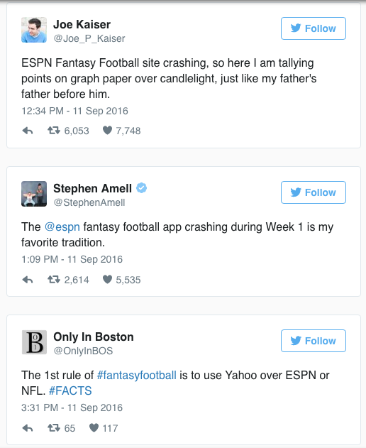ESPN Fantasy Flagged - False Start